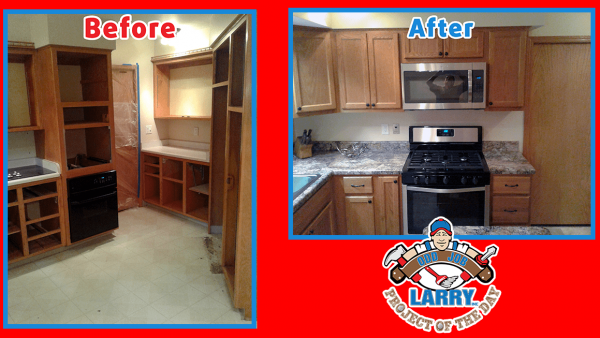 before and after handyman kitchen remodel