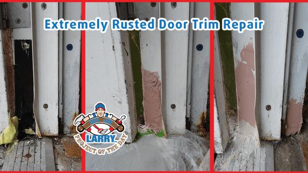 rusted door frame