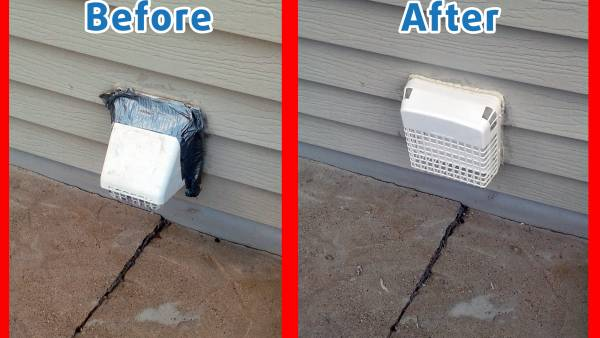 Updated Dryer Vent Installation