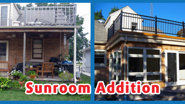 Before and after sun room addition