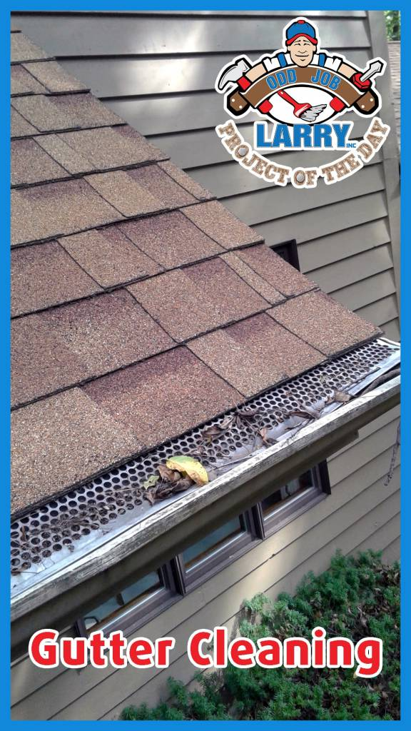 Gutter on home in need of cleaning by handyman