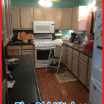 The old kitchen before Odd Job Larry remodel