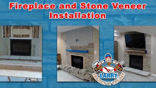 handyman fireplace installation stone veneer installation kenosha racine lake villa
