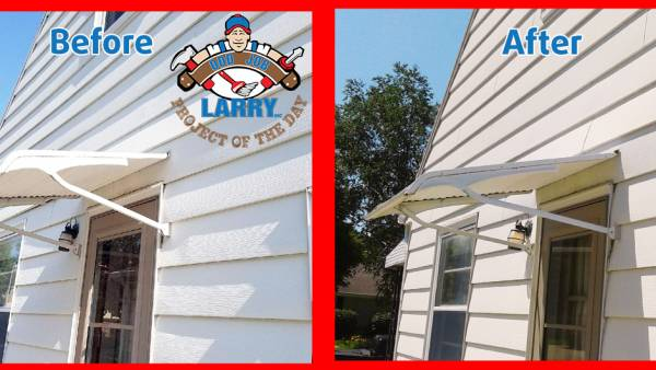 awning before and after repair