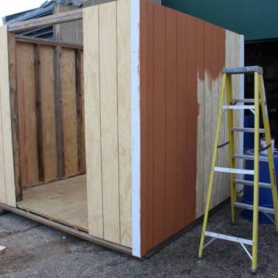 custom-built shed