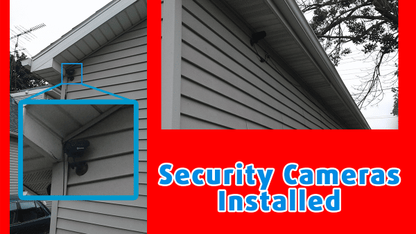 handyman security system installation outside