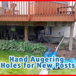 Using a Hand Auger for Post Placement