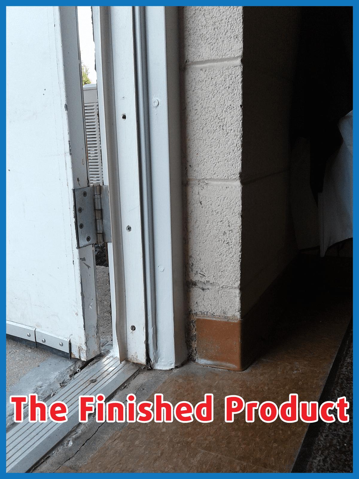 rusted door frame repair, odd job larry