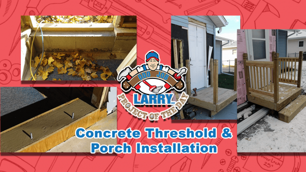 handyman porch installation kenosha racine & lake county