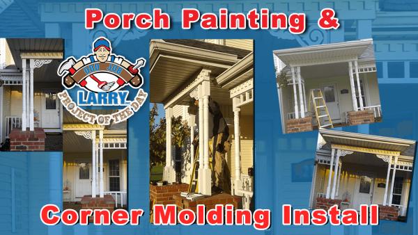 handyman porch painting & corner molding installation kenosha racine & lake county