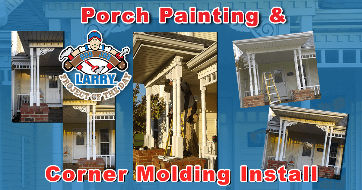 Porch Painting & Corner Molding Installation