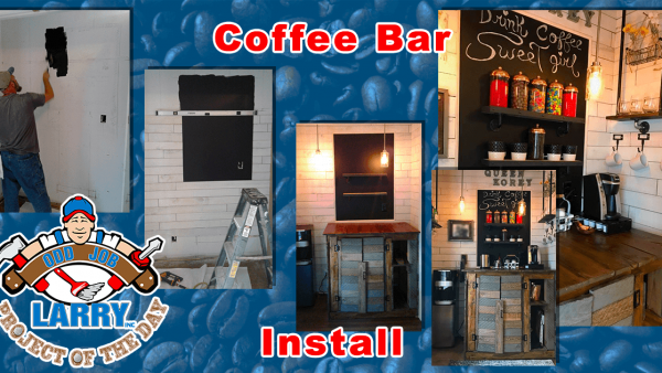 handyman coffee bar installation kenosha racine & lake county
