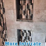 Intricate tile installed in shower