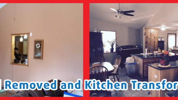 Before and after remodel in kitchen