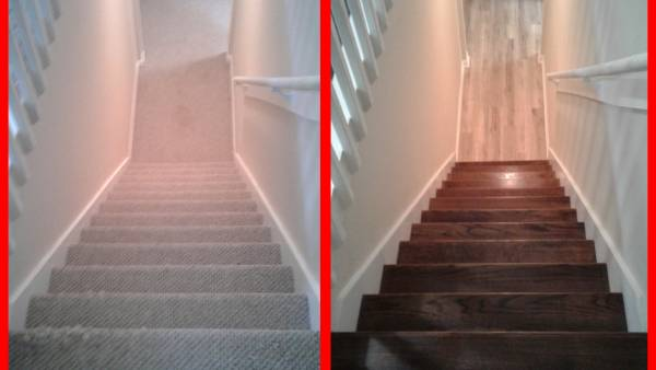 The Finished Hardwood Stair Installation