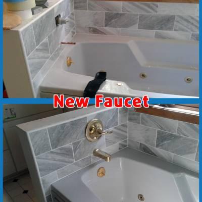 handyman bathtub tile install