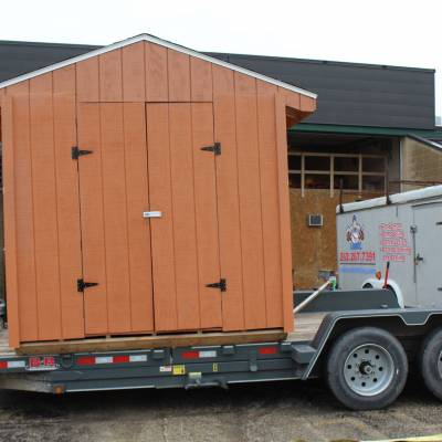 Custom-Built Shed Loaded and Ready to Go