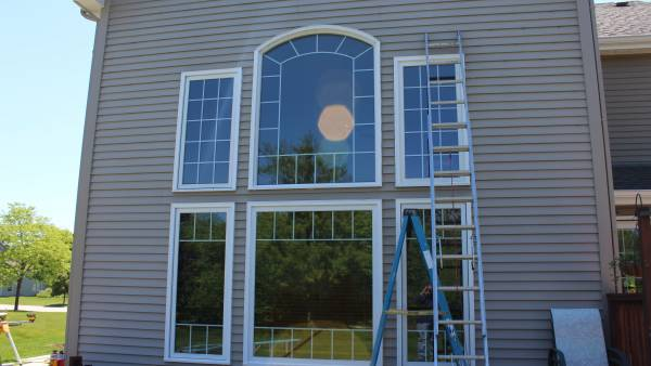 caulking, flashing, windows