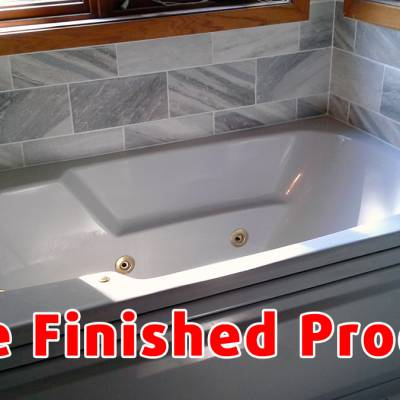 after handyman bathtub tile installation