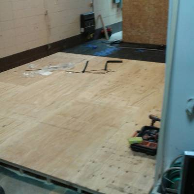 garage remodel, fitness center, gym, flooring