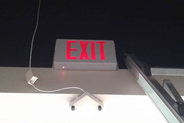 Exit Sign Installation