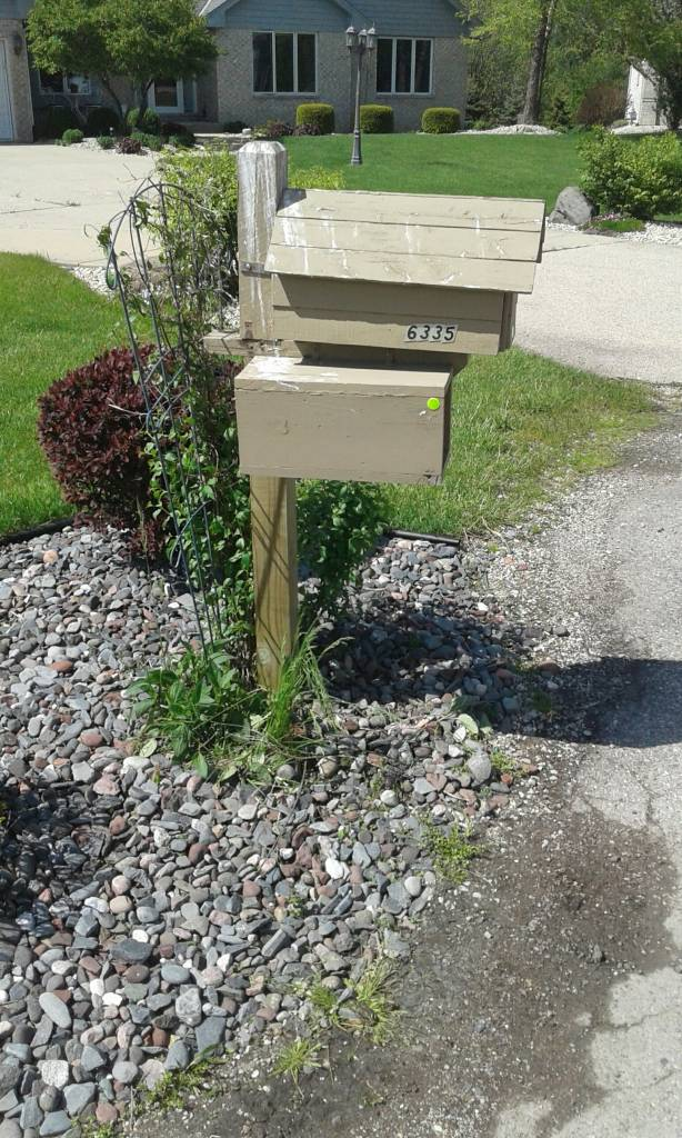 mailbox, leaning, repair, mailbox post, mount mailbox, fix