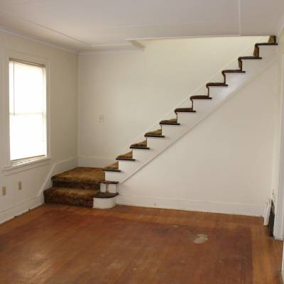 remodel, remodeling, living room, entertainment room, stairs, shag, fix