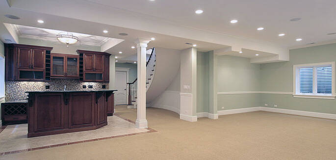 Basement Remodel, Basement Construction Kenosha, Basement Design Kenosha