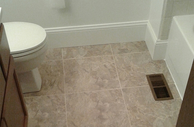 Bathroom Floor And Trim Project Of The Day Odd Job Larry