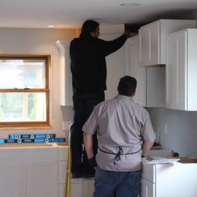 home remodel, kenosha, cabinet install kenosha