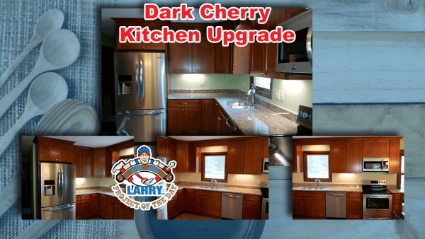 handyman dark cherry cabinet kitchen upgrade