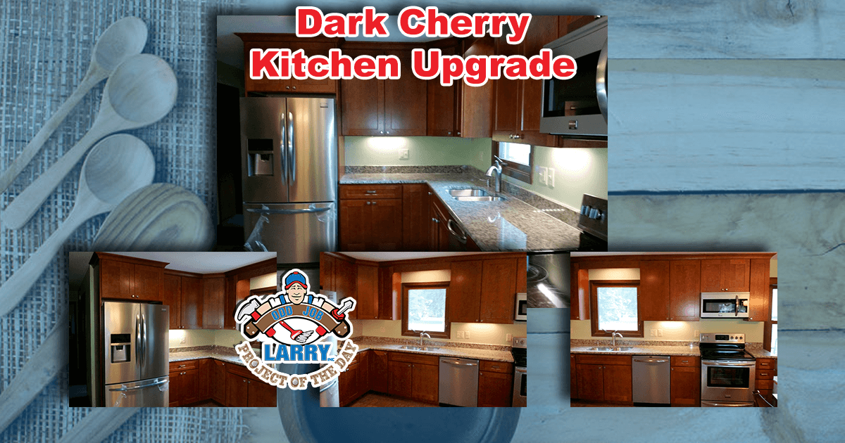 Dark Cherry Kitchen Upgrade