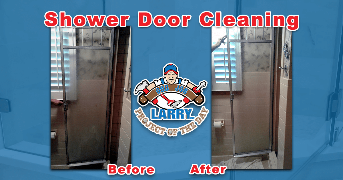 Shower Door Deep Cleaning