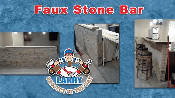 handyman faux stone bar installation gurnee