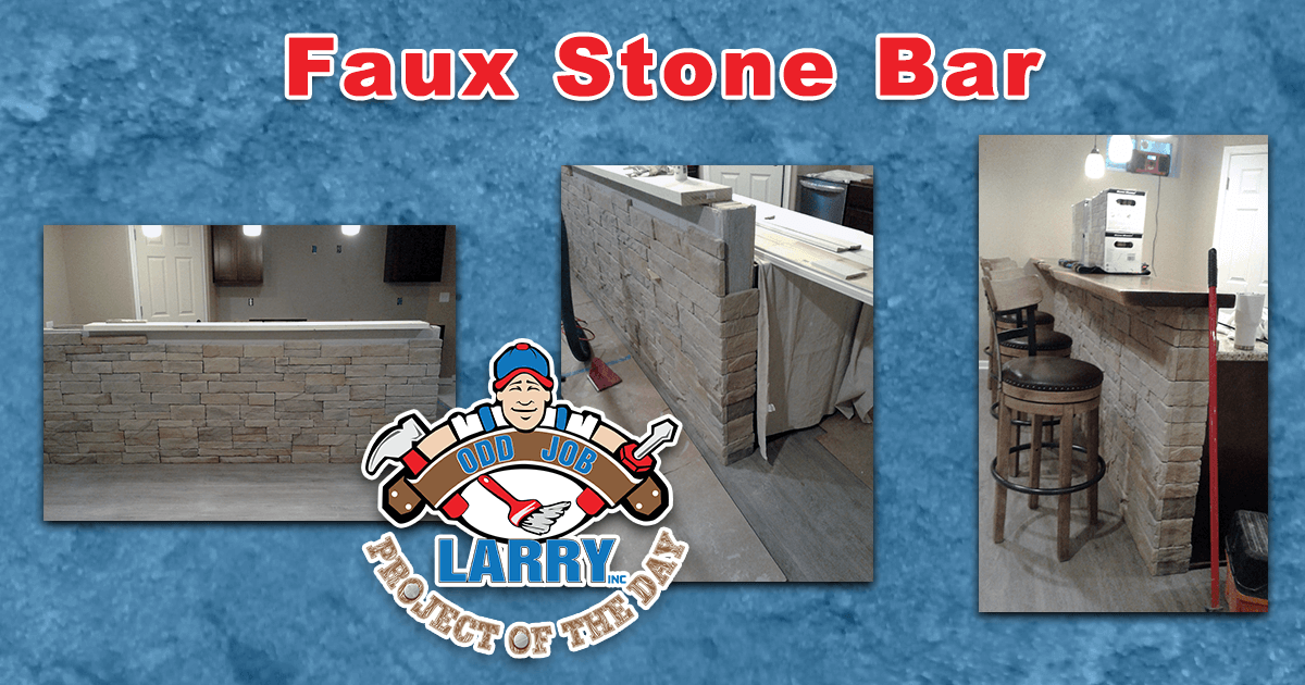 Faux Stone Bar/Breakfast Counter Installation
