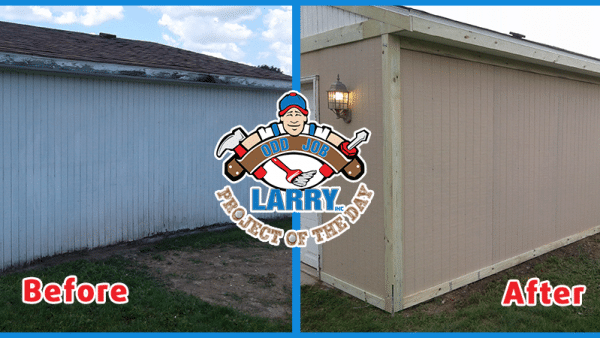 before and after of new siding installation