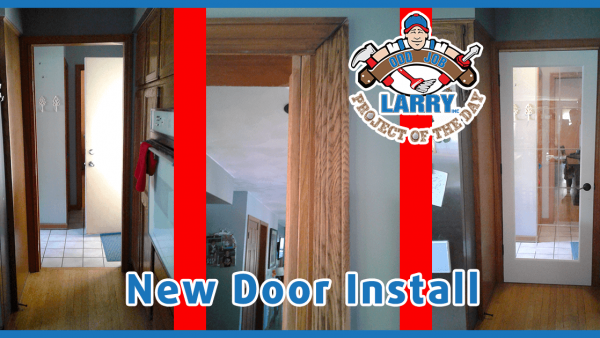 Before and After Handyman Door Installation