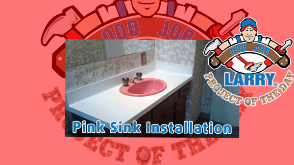 handyman pink sink bathroom installation