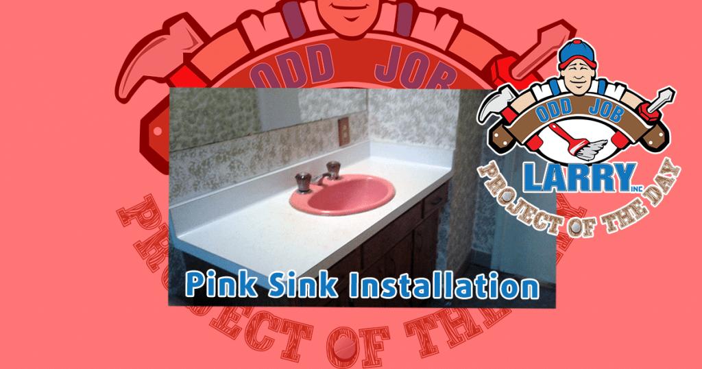 A Pink Sink Installation