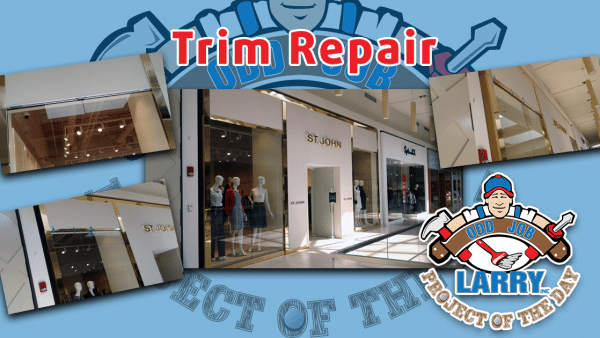 retail window trim installation