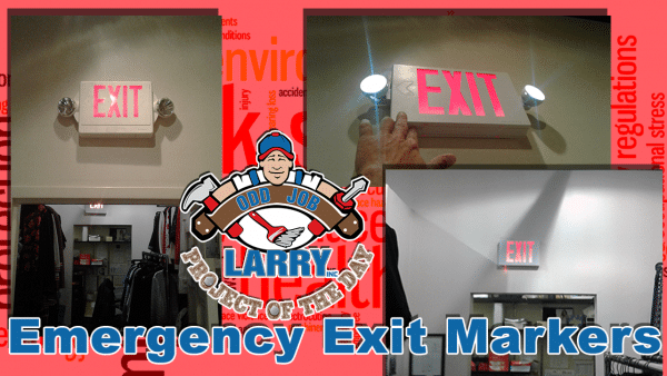 handyman exit sign installation