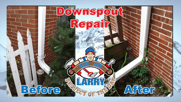 handyman brick wall downspout repair