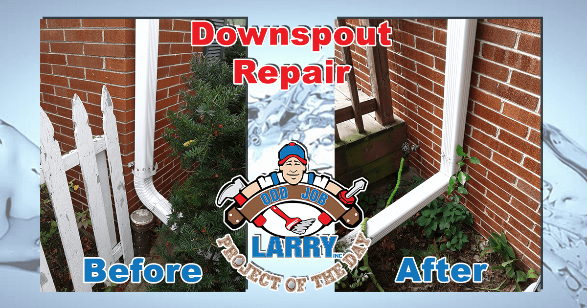 Brick Wall Downspout Repair