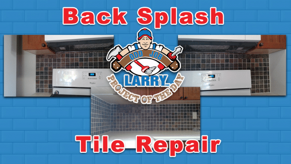 handyman back splash tile repair