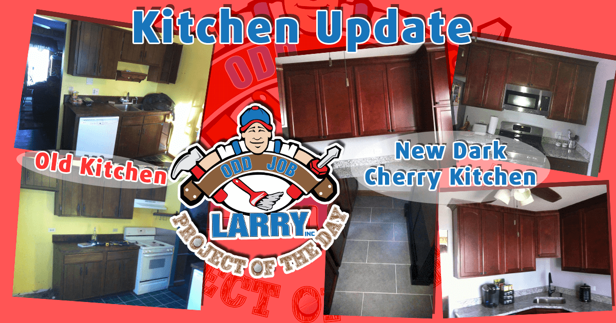 Dark Cherry Cabinet Kitchen Remodel