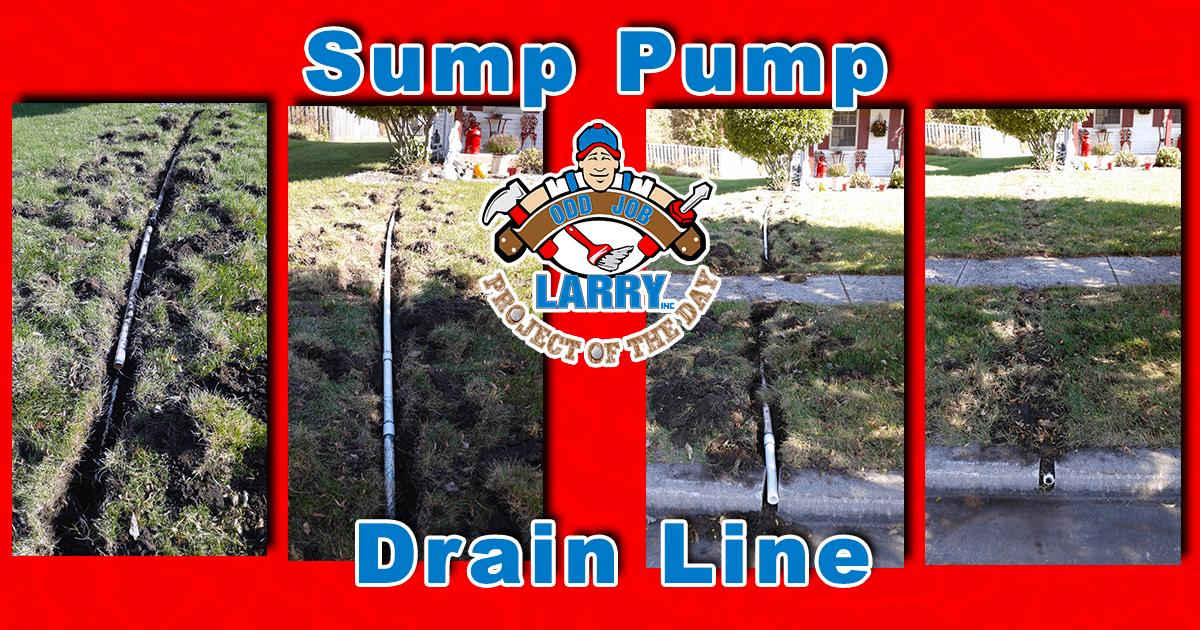 Burying Sump Pump Drain Line