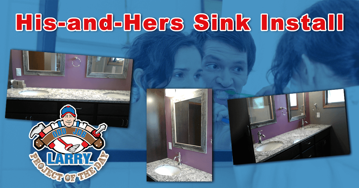 His and Hers Sink Installation