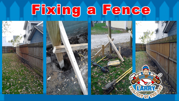 kenosha handyman leaning fence repair