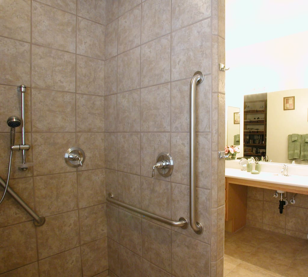 grab bar installation, aging in place kenosha, ada bathroom upgrade