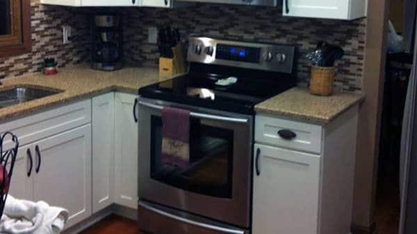 kitchen remodel after, odd job larry, kitchen remodeling kenosha